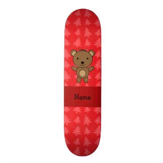 Árvores de Natal vermelhas personalizadas do urso  Shape De Skate 19,7cm