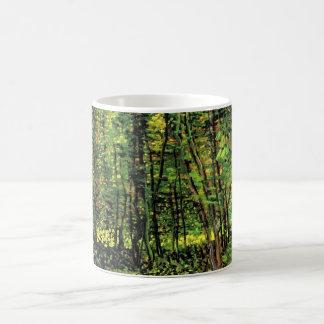 Árvores de Van Gogh e Undergrowth, belas artes do Caneca De Café