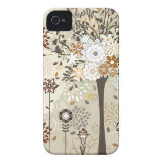 Árvores e capa de iphone 4 lunáticos das flores capa para iPhone