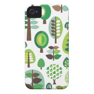 Árvores e capas de iphone retros verdes das