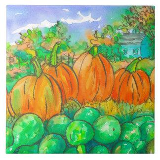 Árvores Home do outono do remendo da abóbora do Azulejo Quadrado Grande