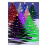Árvores Multi-Coloridas Cartao