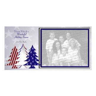 Árvores patrióticas cartão com foto