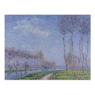 Árvores pelo rio por Gustave Loiseau Cartoes Postais