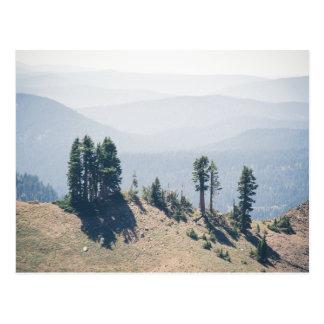 Árvores que negligenciam o cartão de Lassen |