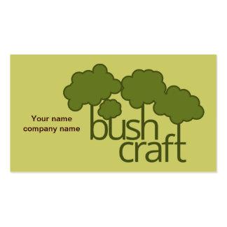 Árvores verdes, artesanato do arbusto cartão de visita