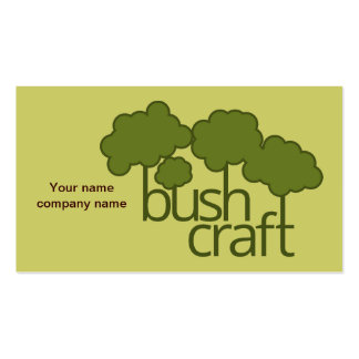 Árvores verdes, artesanato do arbusto modelo cartoes de visitas