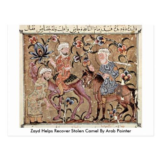 As ajudas de Zayd recuperam o camelo roubado pelo  Cartao Postal