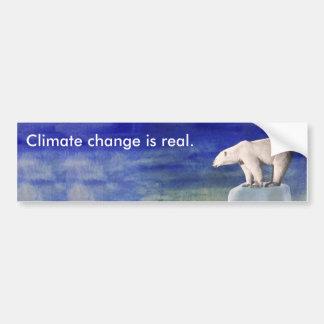 As alterações climáticas são autocolante no vidro adesivo de para-choque