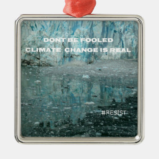 As alterações climáticas são geleira de ornamento de metal