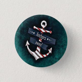 As âncoras afastado imprimem a âncora náutica bóton redondo 2.54cm