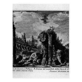 As antiguidade romanas, T. 1, placa XXXIII. Ruínas Cartão Postal