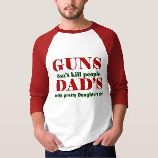 as armas não matam as pessoas do pai com filhas t-shirts