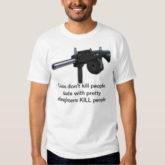 As armas não matam as pessoas, pais com filhas t-shirt