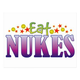 As armas nucleares comem cartão postal