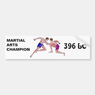As artes marciais patrocinam 396 BC Adesivo Para Carro