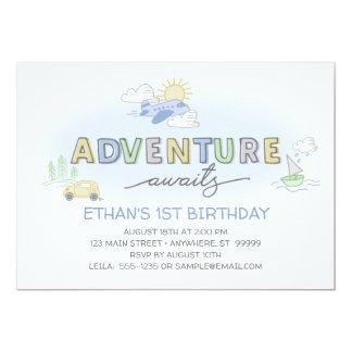 As aventuras esperam o convite do aniversário da