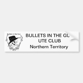 As balas no Ute da arma batem o autocolante no vid Adesivo Para Carro