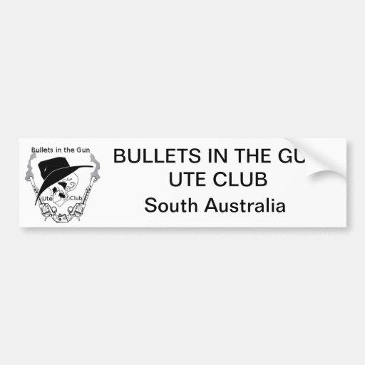 As balas no Ute da arma batem o autocolante no vid Adesivos