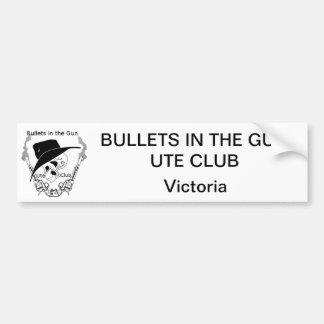 As balas no Ute da arma batem o autocolante no vid Adesivo