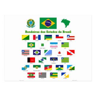 As bandeiras de Brasil Cartão Postal