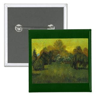 As belas artes de Van Gogh do jardim do poeta Bóton Quadrado 5.08cm