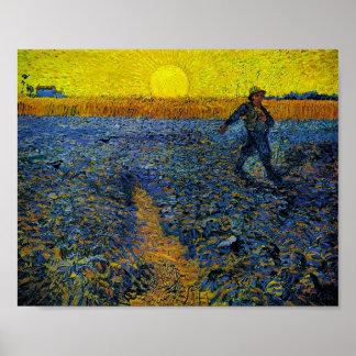 As belas artes de Van Gogh do Sower (F422) Poster