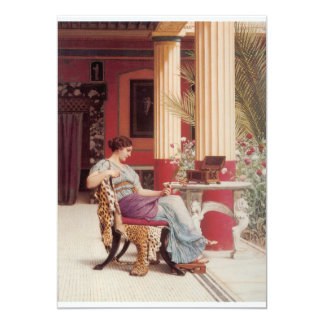 As belas artes do caixão de jóia convite 12.7 x 17.78cm