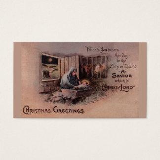 As bênçãos de Tag do presente do Natal Cartão De Visitas