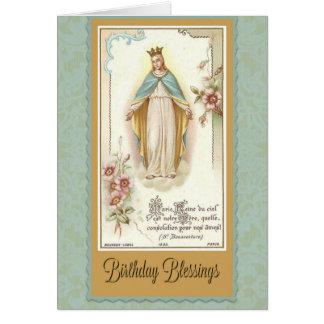 As bênçãos do aniversário abençoaram o cartão da