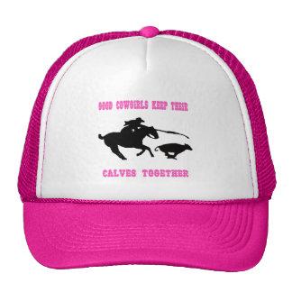 As boas vaqueiras mantêm seu chapéu das vitelas ju bonés
