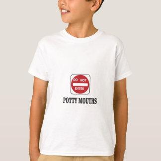 as bocas do potty não entram camiseta