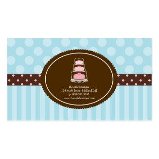 As bolinhas azuis da loja do bolo listram cartões  cartão de visita