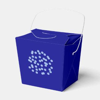 As bolinhas azuis removem a caixa do favor