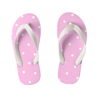 As bolinhas cor-de-rosa caçoam chinelos