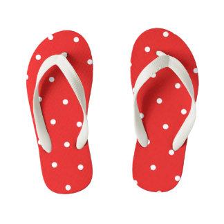 As bolinhas vermelhas caçoam chinelos
