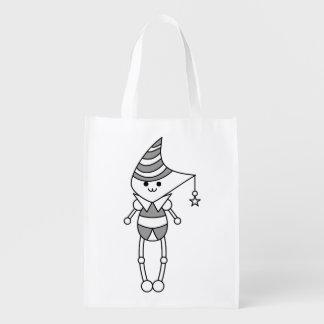 As bolsas bonitos do personagem de desenho animado sacola ecológica