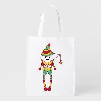 As bolsas bonitos do personagem de desenho animado sacolas reusáveis