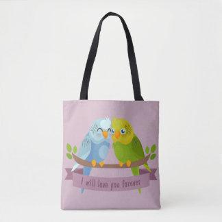 As bolsas bonitos dos pássaros do amor