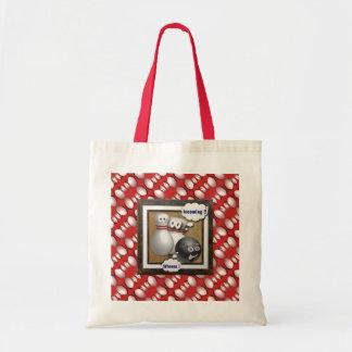 As bolsas da boliche e presentes feitos sob