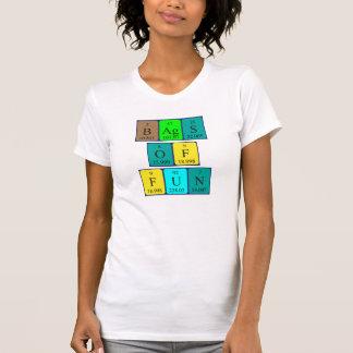 As bolsas da camisa da frase da mesa periódica do t-shirt