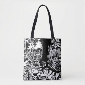 As bolsas da Eco-Arte da floresta da sacola B&W da
