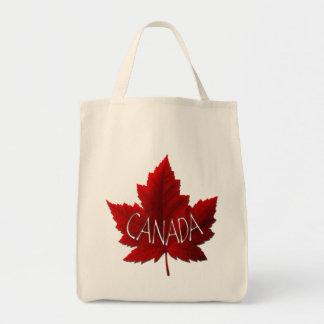 As bolsas da folha de bordo de Canadá das sacolas