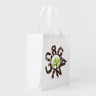 As bolsas de canvas reusáveis do planeta orgânico  sacola ecológica