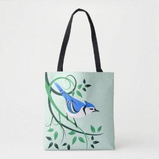 As bolsas decorativas de Jay azul