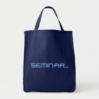 As bolsas do logotipo do seminário