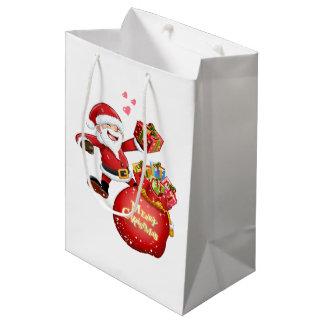 as bolsas do presente do Natal Sacola Para Presentes Média