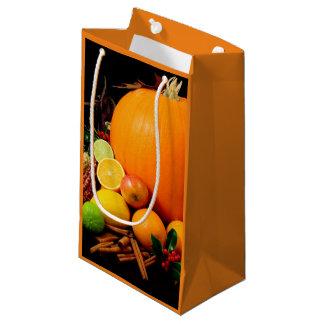As bolsas do presente do papel do outono da acção sacola para presentes pequena