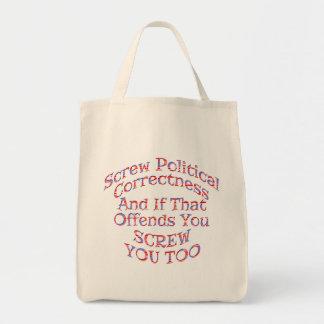 As bolsas do tecido da exatidão política do