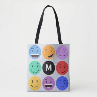 As bolsas feitas sob encomenda do monograma dos